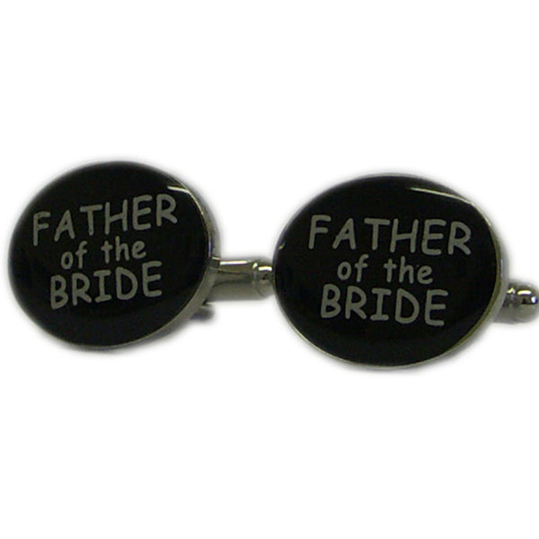 Black Oval Father of the Bride Cufflinks