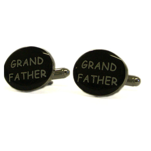Black Oval Grandfather Cufflinks