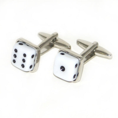 White Dice Cufflinks