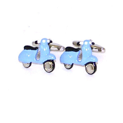Blue Scooter Cufflinks