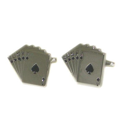 Royal Flush Poker Players Cufflinks