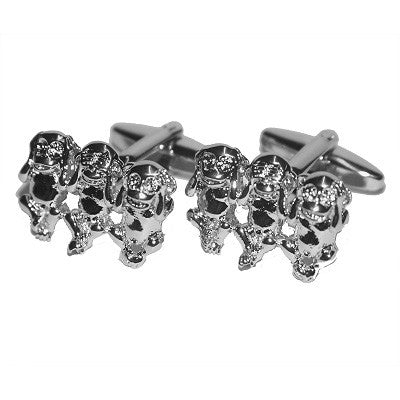 3 Monkeys Cufflinks