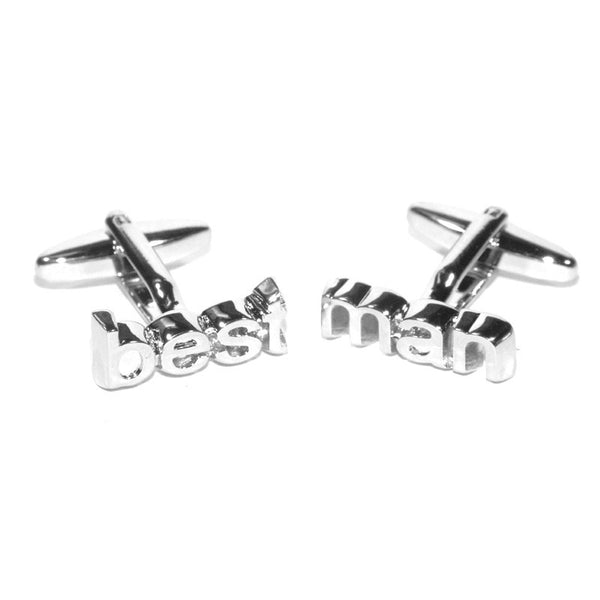 Best Man Cut Out Wedding Cufflinks
