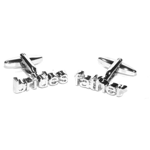 Brides Father Cut Out Wedding Cufflinks