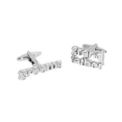 Grooms Grandfather Cut Out Wedding Cufflinks