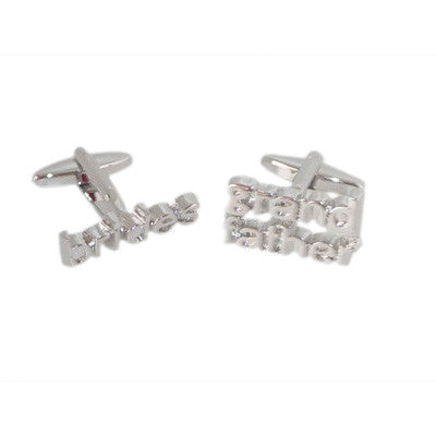 Brides Grandfather Cut Out Wedding Cufflinks