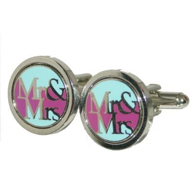Contemporary Mr & Mrs Cufflinks