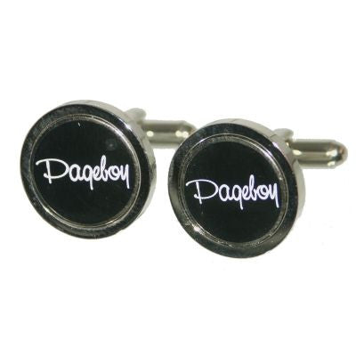 Black Round Pageboy Cufflinks