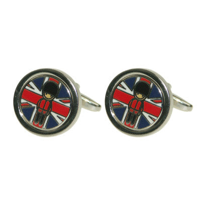 Union Jack with Guardsman Logo Coin Cufflinks