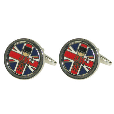 Union Jack with Beefeater Logo Coin Cufflinks