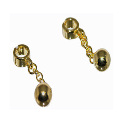 Gold Ball & Chain Cufflinks