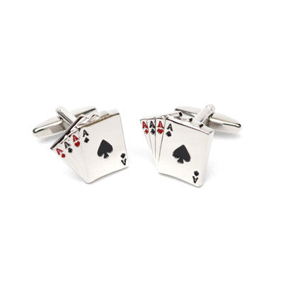4 Aces Matt Finish Cufflinks