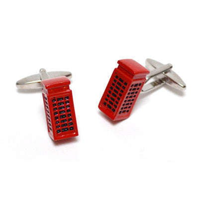 Red Phone Box Cufflinks