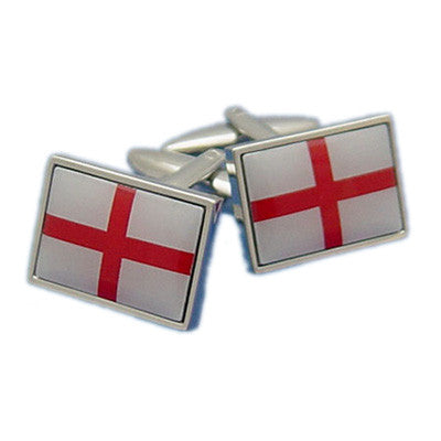 England St George Cross Flag Cufflinks with Border