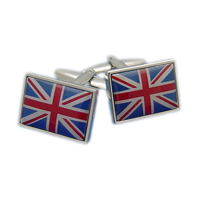 Union Jack Flag Cufflinks with Border Cufflinks