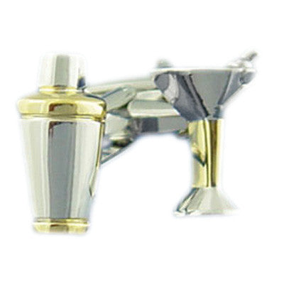Cocktail Shaker and Glass Cufflinks
