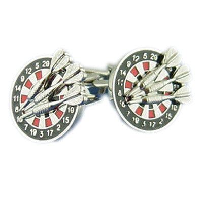 Dartboard & Darts Cufflinks