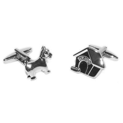 Dog and Kennel Cufflinks