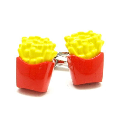 Coloured French Fries Cufflinks