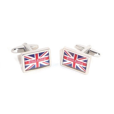British Bulldog Union Jack Cufflinks