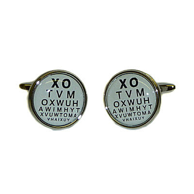 Opticians Test Card Cufflinks