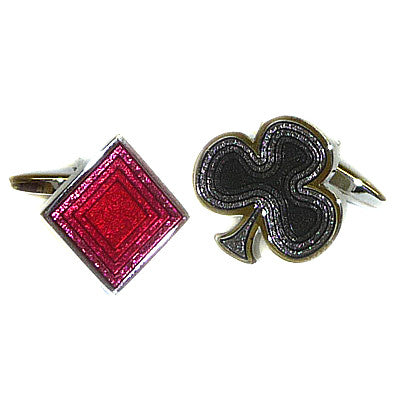 Diamonds & Clubs Card Suits Cufflinks