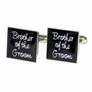 Black Square Brother of the Groom Wedding Cufflinks