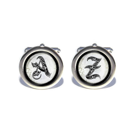 royal alphabet initial cufflinks