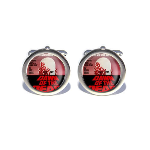 dawn of the dead zombie retro horror cufflinks