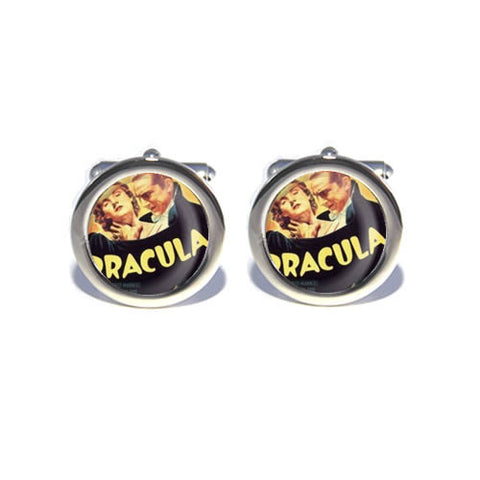 dracula vampire retro horror halloween cufflinks