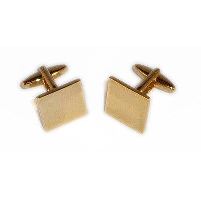 engraved personalised square gold cufflinks