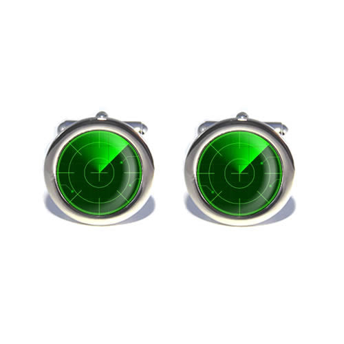 green radar cufflinks