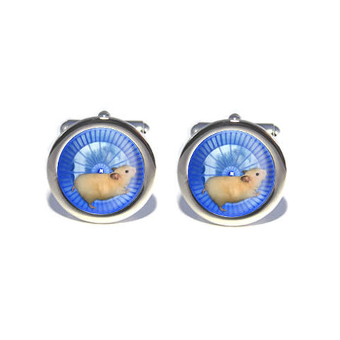 hamster in wheel cufflinks