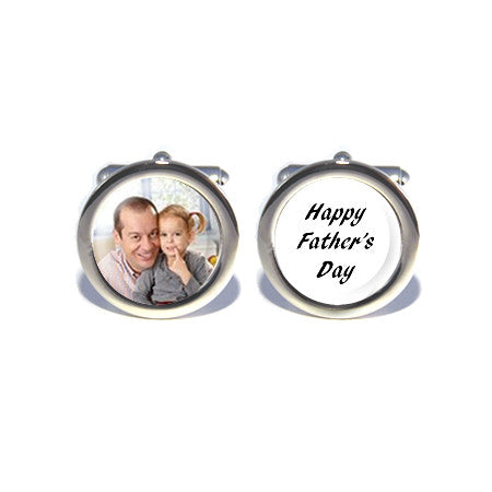 personalised custom photo cufflinks happy fathers day