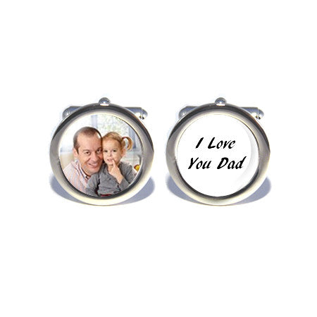 personalised custom photo cufflinks i love you dad