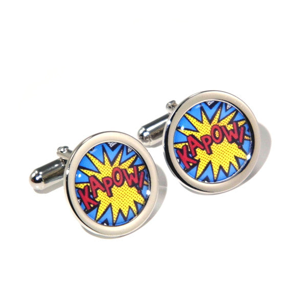 Kapow Cartoon Comic Cufflinks