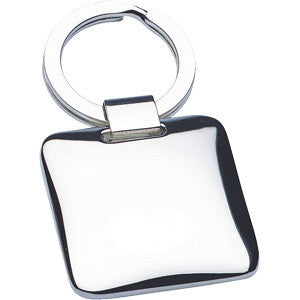 Silver Plated Square Chunky Keyring