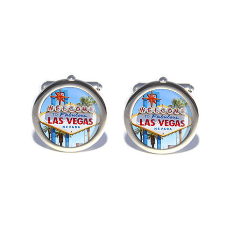 las vegas sign cufflinks