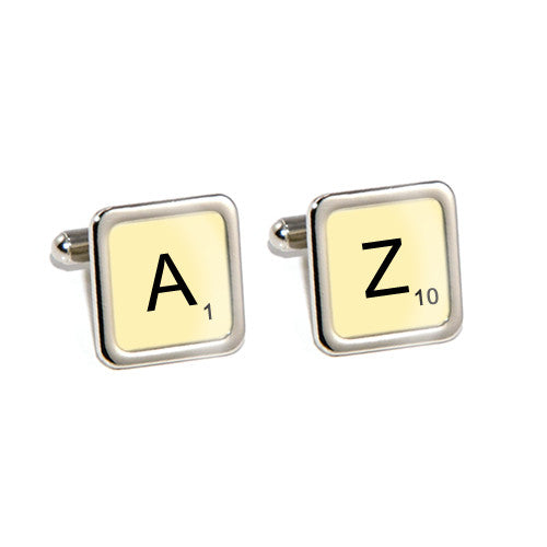 game tile initial cufflinks