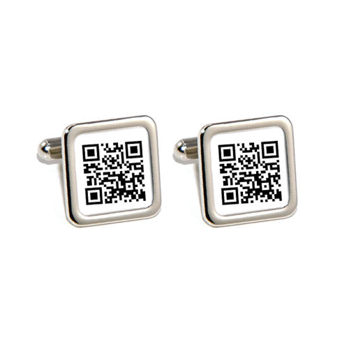 qr personalised secret message cufflinks