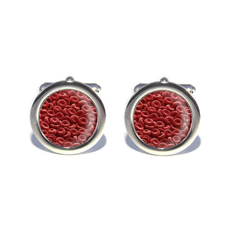 red blood cells bloodstream cufflinks