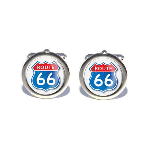 route 66 sign usa cufflinks