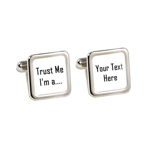 trust me im a personalised cufflinks