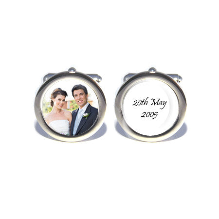 personalised photo wedding anniversary cufflinks