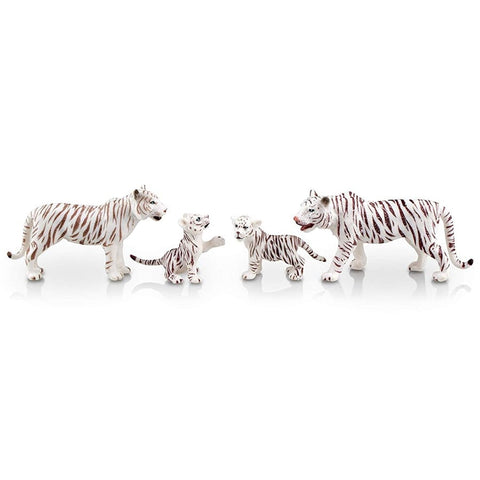 Figurines Famille Tigres Blancs