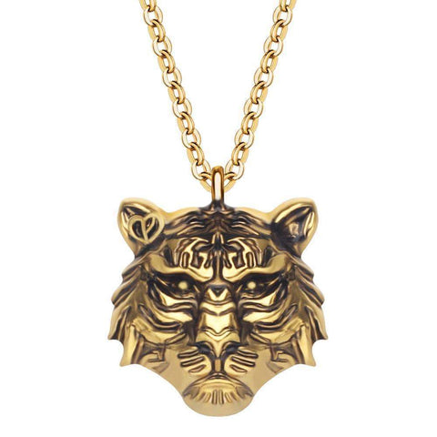 Collier Tigre Couleur Or