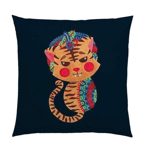 Coussin Tigre Hindou