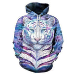 Sweat Tigre Flamme Violette