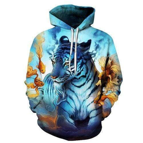 Sweat Tigre Bleu