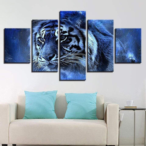 Tableau Tigre Jungle Nocturne